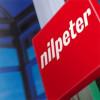 Nilpeter Logo Blau Hintergrund
